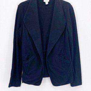 Caslon Womens Suit Jacket Blazer Black Cotton S